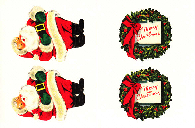 Cavallini 缶入りラベルシール/クリスマス拡大画像6