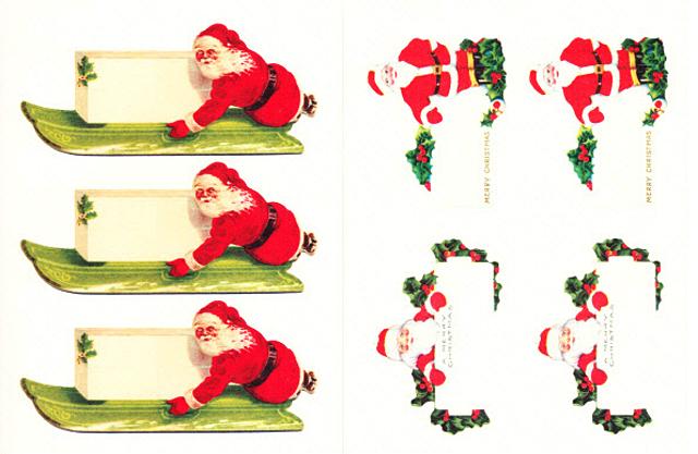 Cavallini 缶入りラベルシール/ビンテージクリスマス拡大画像4