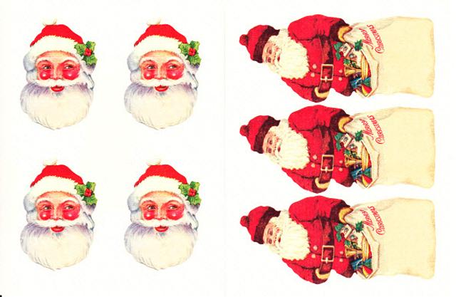 Cavallini 缶入りラベルシール/ビンテージクリスマス拡大画像5