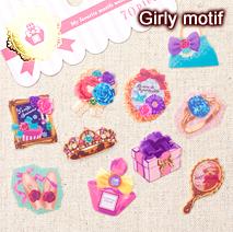 フェイバリットシール/girly motif