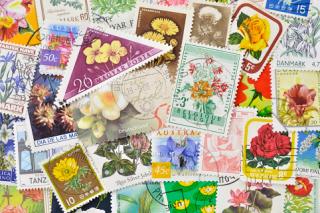 花と実の使用済み切手