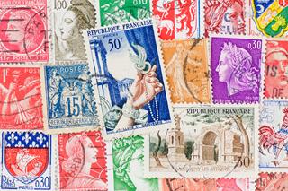 フランスの使用済み切手