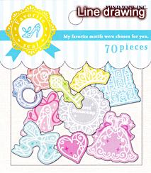 フェイバリットシール/line drawing