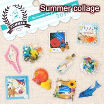 サマーフェイバリットシール/Summer collage
