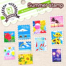 サマーフェイバリットシール/Summer stamp