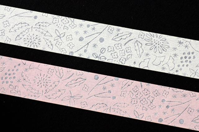 花草木マスキングテープの和紙特有の透け具合