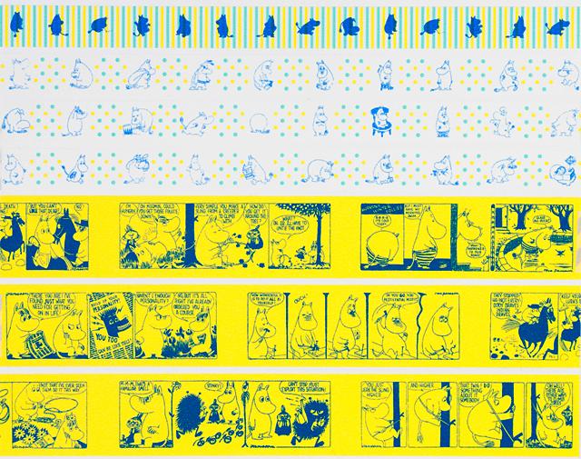 ムーミンマスキングテープの各色柄の詳細