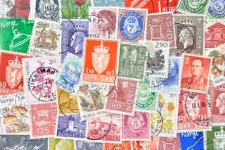 ノルウェーの使用済み切手