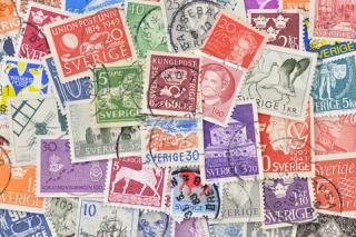 スウェーデンの使用済み切手